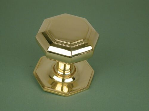 OCTAGONAL TRADITIONAL PERIOD SOLID BRASS CENTRE DOOR PULL *ATC