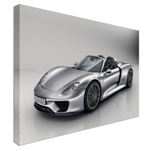Porsche 918 Car Canvas Print Crafted In London Quality Assured