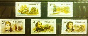 POLAND STAMPS MNH 1Fi2253-57 Sc2117-21 Mi2400-04 - Independence of USA 1975, ** - Reda, Polska - POLAND STAMPS MNH 1Fi2253-57 Sc2117-21 Mi2400-04 - Independence of USA 1975, ** - Reda, Polska