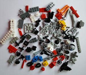Lego-Konvolut-Sondersteine-Pins-Verbinder-seltene-Steine-Kleinteile-120-Stueck-A1