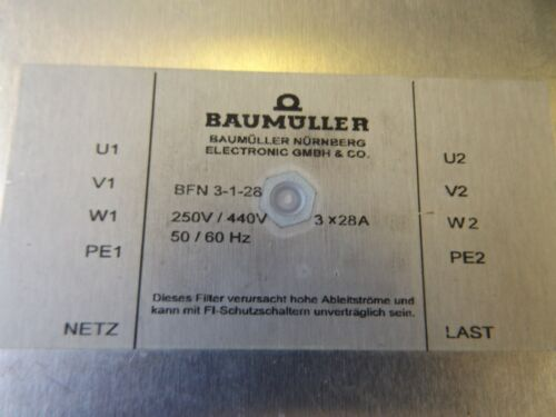 WHOLESALE LIQUIDATION BAUMULLER LINE FILTER BFN 3128 NOS NO BOX