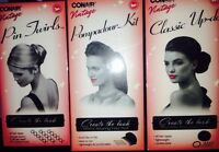Conair Vintage Hair Kits Pin Pompadour 1950's Alluring Roll Brunette Bun (3pk)