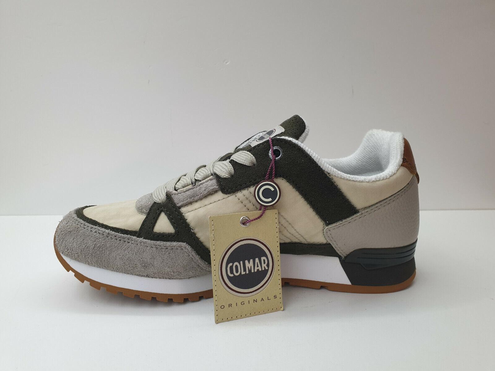 Sneakers men Colmar  - Art.  TRAVIS SUPREME  Col. Beige -green - Sconto 55%