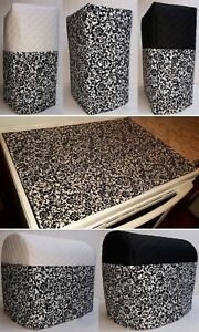 ... White Floral Damask Cover Set for Kitchen Countertop Appliances eBay