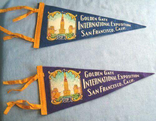 Vintage 1939 Golden Gate International Exposition Pennant Flag