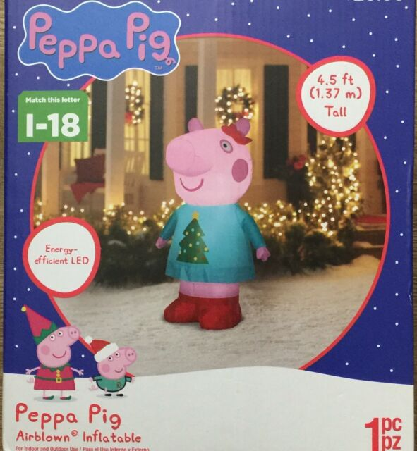 Peppa Pig Airblown Christmas Inflatable Gemmy 4.5 Ft NEW
