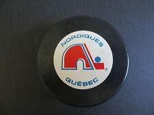 1991-92 QUEBEC NORDIQUES  OFFICIAL IN GLASGO NHL SOUVENIR PUCK