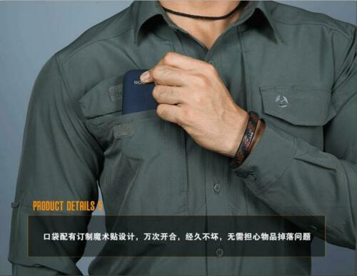Army Mens Tactical Shirt Military Combat Cargo Outdoor City Casual Shirts Hiking