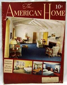 Image Is Loading The American Home Magazine October 1939 Wwii Vintage