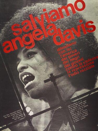 AD CIVIL RIGHTS USA SAVE ANGELA DAVIS ITALIAN ISSUE   POSTER ART PRINT HP3629
