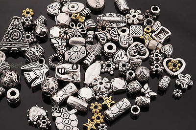 50g (About 90pcs) Wholesale Mixed Tibet Silver Beads Spacer For Jewelry making