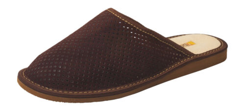 Mens Suede Leather Mules Slippers MX200