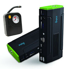 Portable 12800mAh Emergency Vehicle Jump Starter Air Pump Power Bank Travel Kit