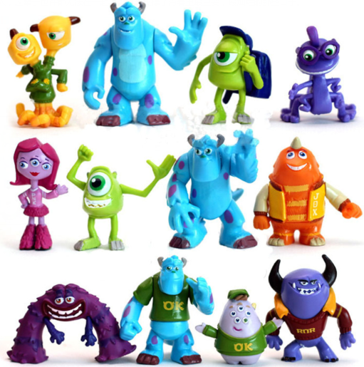 Monsters Inc. Monsters University Mike Sully Action Figure Toy Loose 12PCS