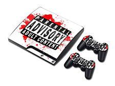 PS3 PlayStation 3 Slim Skin Design Foils Aufkleber Schutzfolie Set - PAAC Motiv