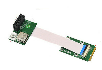 Sintech mini pci-e to USB PCI-e express 1X Riser adapter Card+10/20cm FFC Cable