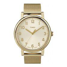 Timex Originals T2N598 Damen Gold Netz Klassisch Runde Uhr