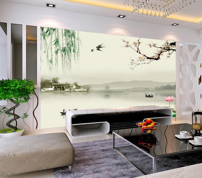 3D Inmitten Des Regens 74 Tapete Wandgemälde Tapete Tapeten Bild Familie DE