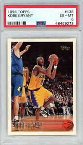 Kobe-Bryant-Los-Angeles-Lakers-1996-Topps-Basketball-Rookie-Card-RC-138-PSA-6