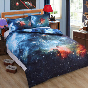 Image Is Loading Galaxy Doona Duvet Quilt Cover Set Double Size