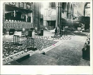 Image is loading 1937-Westminster-Abbey-with-Coronation-Chairs -Original-News- & 1937 Westminster Abbey with Coronation Chairs Original News Service ...