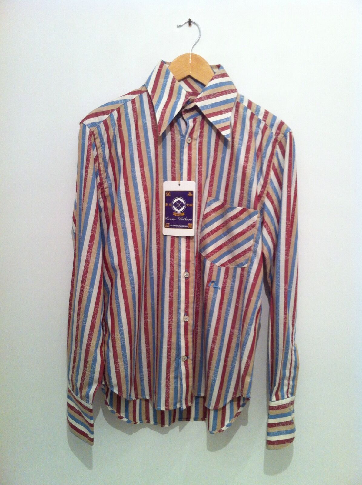 BNWT Replay Long Sleeve Shirt In Red Stripe Size M