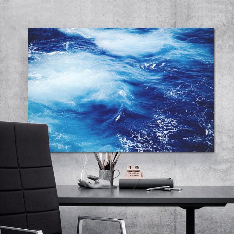 3D Blaue wellen 622 Fototapeten Wandbild BildTapete Familie AJSTORE DE