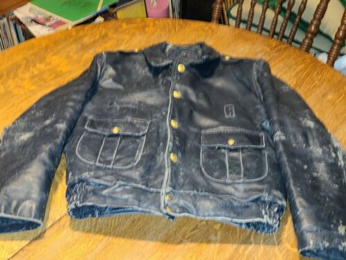 Vintage Chicago Police Leather Jacket by Advance U