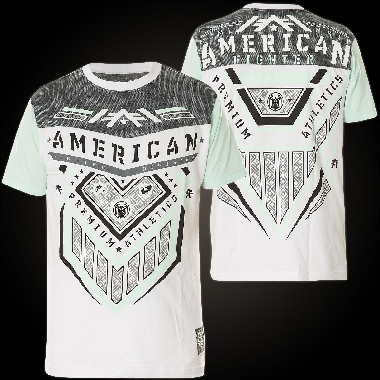 AMERICAN FIGHTER Affliction T-Shirt Cooper Weiß/Grau T-Shirts