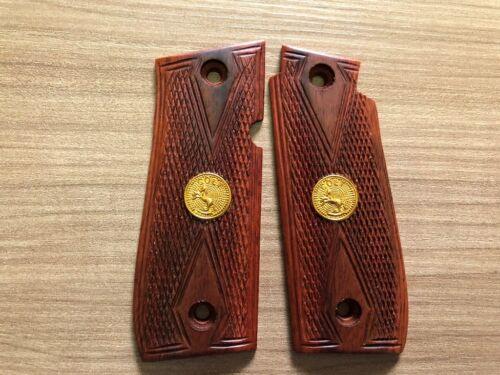 Diamond Checkered With Frame Hardwood New Colt Goverment 380 Grips