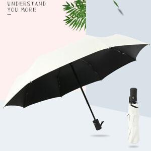 741cfec88d4c Anti-UV Sun Rain White Big Umbrella 8Ribs Parasol Protection ...