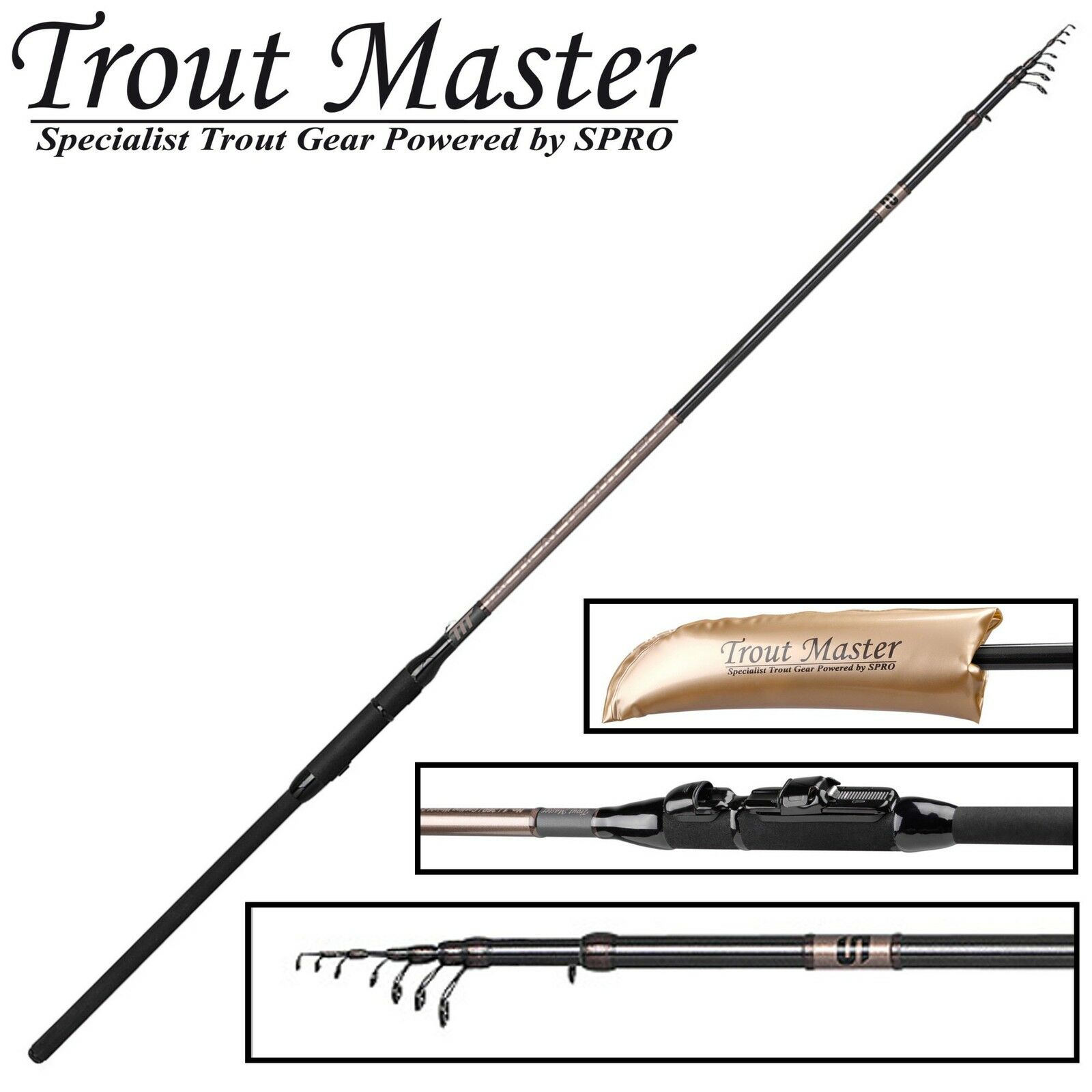 Trout Master Tactical Trout tele 3,90m 20-40g - TrossoE stadia, telescopico stadia