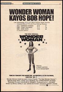 WONDER-WOMAN-Original-1976-Trade-print-AD-poster-TV-ratings-promo-LYNDA-CARTER