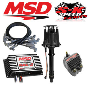 msd ignition kit programmable 6al 2 distributor wires coil small rh ebay com