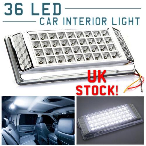 12v 36 LED White Interior Dome Roof Ceiling Light Universal Car Van Unit Lamp
