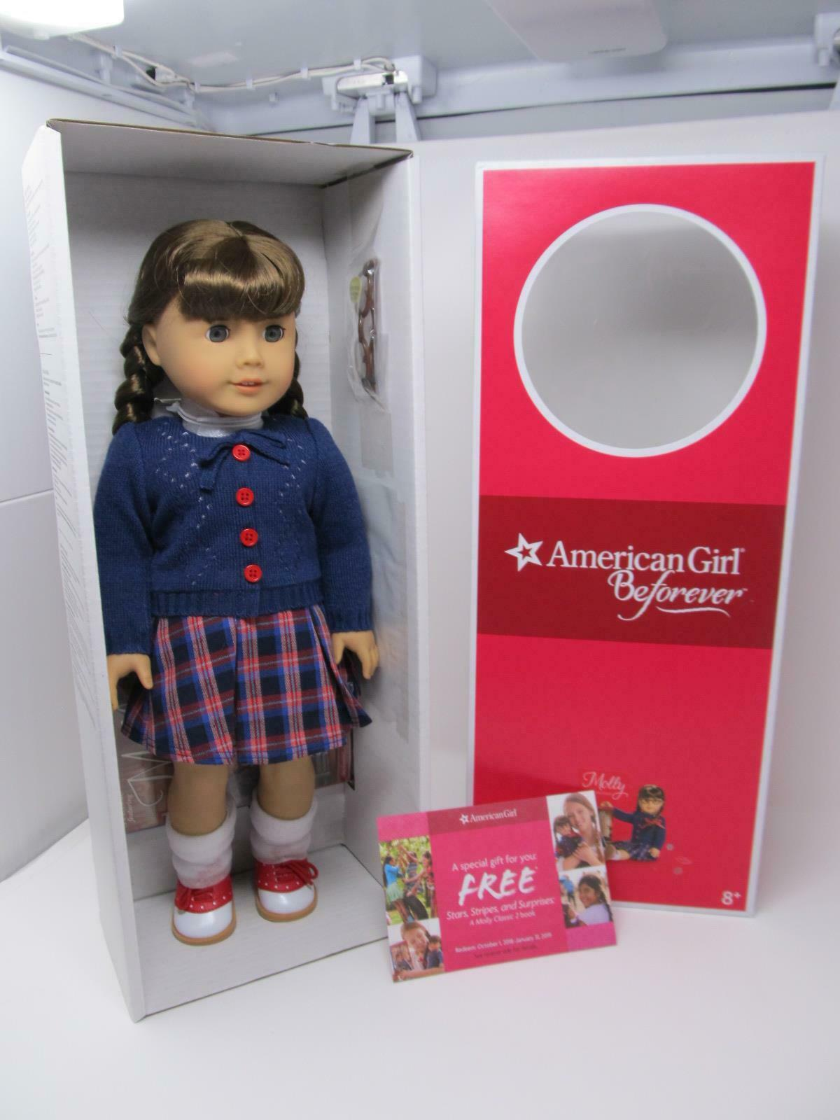 American Girl BeForever MOLLY 18  Doll+Accessories +Pajamas 2018 COSTCO GIFT SET