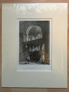 Antique-Print-Engraving-Canterbury-Cathedral-View-Of-St-Anselms-Chapel