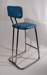 Image Is Loading Mid Century Modern Daystrom Chrome Vinyl Stool Kitchen