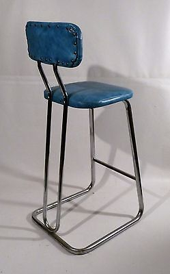 Mid Century Modern Daystrom Chrome Vinyl Stool Kitchen