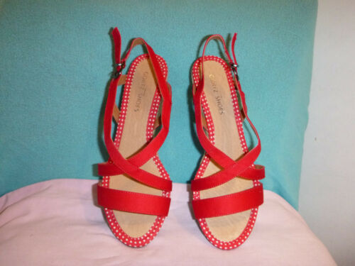 Abs Nuovo Textil 5 38 Width Shoes g Red Görtz 6 Sandals rqRrF8w