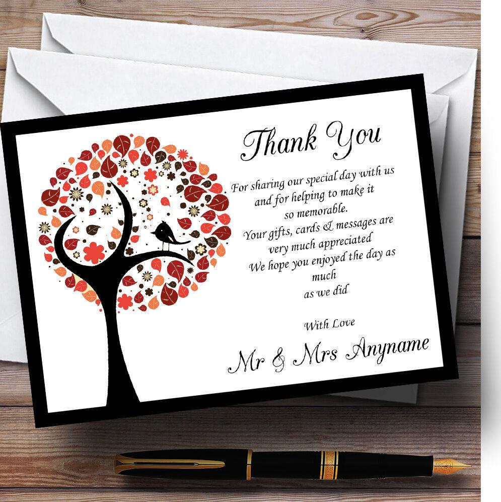 Oiseau arbre oiseau marron oiseau arbre noir mariage Personnalisé Cartes RemercieHommes t 92296b