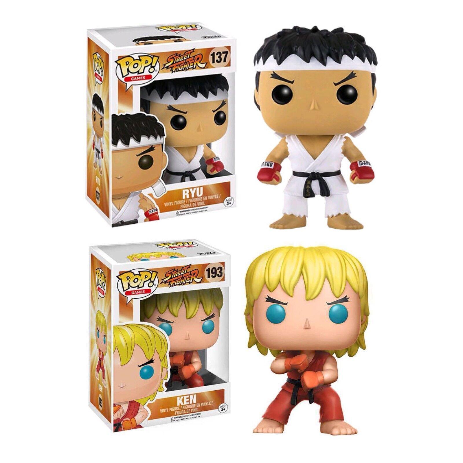 STREET FIGHTER 2 Ryu (Bianco Fascia per Capelli) & KEN (speciale attacco) POP  VINILE. Nuovo Regno Unito.