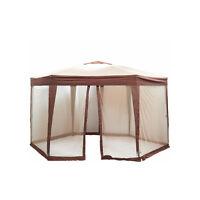 Bliss Hammocks 13 Ft. Hexagon Gazebo With Mosquito Netting Ez Pop Up Patio Tent on sale
