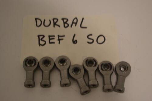 BEF 6 S0 ONE NEW DURBAL ROD END BEARING BEF6