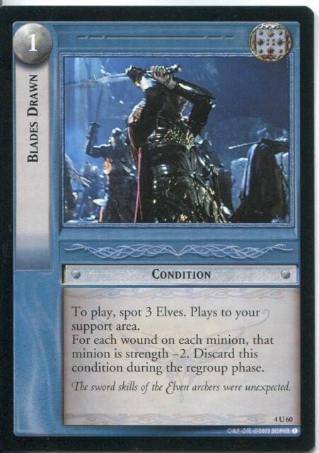 Lord Of The Rings CCG Card TTT 4.U60 Blades Drawn