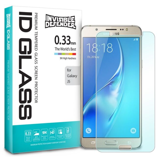 Case Friendly UNEXTATI Bubble Free HD Clear Tempered Glass Film 4 Pack Screen Protector for Samsung Galaxy J5 2015