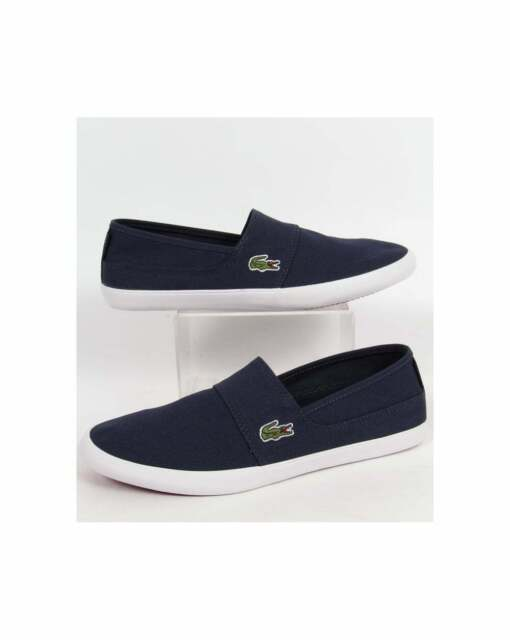b19a30aa2b6220 Lacoste Marice Slip On Espadrilles in Dark Blue - canvas pump, trainers