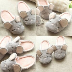 cute mouse women s home slippers girls ladies soft bottom indoor