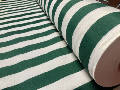 Sofia Stripes Curtain Upholstery Material 140cm wide Green Khaki Striped Fabric