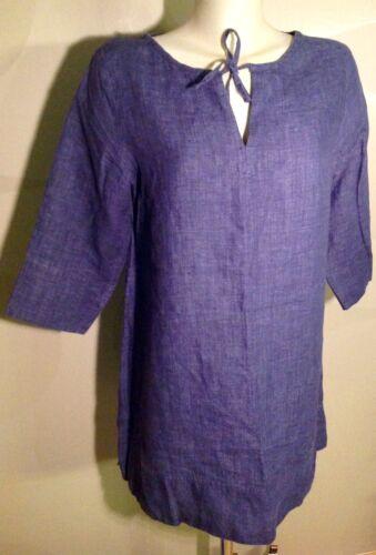 a m Heavy Cool di fibra naturale Nuovo❗️ in blu Camicia lusso lino denim chiazze S gr di qZwpZxvH